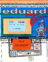 エデュアルド1/72 エアクラフト用 カラーエッチング ズーム (SS-X)BAC ライトニング F.1A用 エッチングパーツ (接着剤付)