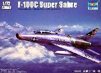 トランペッター1/72 エアクラフト プラモデルアメリカ空軍 F-100C スーパーセイバー