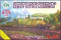 ユニモデル1/72 AFVキットロシア OB-3 第1号列車23大隊 装甲列車 (5両編成)