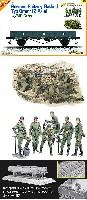 サイバーホビー1/35 AFVシリーズ (Super Value Pack)ドイツ軍 低側無蓋貨車 w/機関銃チーム