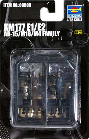 XM177E1 & XM177E2プラモデル(トランペッター1/35 ウェポンシリーズNo.00505)商品画像