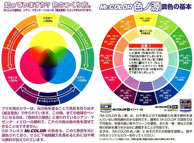 イエロー (原色) (CR-3)塗料(GSIクレオスMr.カラー 色ノ源(イロノモト)No.CR003)商品画像_1