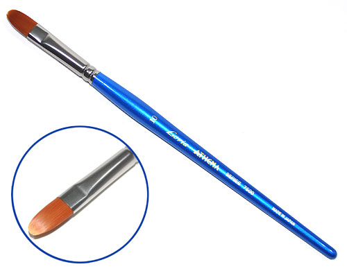 フィルバート筆 #10 (0.9×1.6cm)筆(アシーナラヴィア フィルバート 7500 シリーズNo.D1075-0010)商品画像