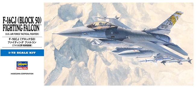 F-16CJ (ブロック50) ファイティング ファルコン (アメリカ空軍 戦術戦闘機)プラモデル(ハセガワ1/72 飛行機 DシリーズNo.D018)商品画像