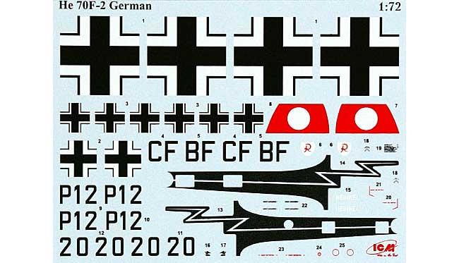 ヘンシェル He70F-2 偵察機プラモデル(ICM1/72 エアクラフト プラモデルNo.72232)商品画像_1