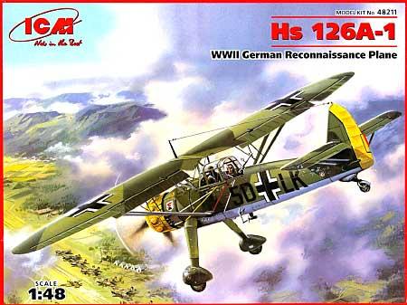 ドイツ ヘンシェル Hs 126A-1 近接偵察機プラモデル(ICM1/48 エアクラフト プラモデルNo.48211)商品画像