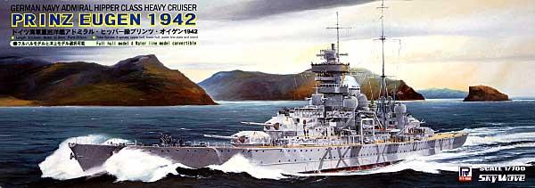 ドイツ海軍 重巡洋艦 プリンツ・オイゲン 1942年プラモデル(ピットロード1/700 スカイウェーブ W シリーズNo.W126)商品画像