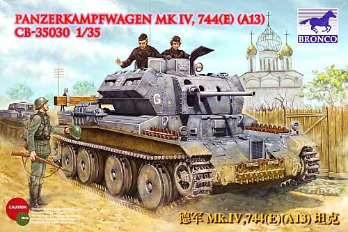 ドイツ A13 巡航戦車 744(E) 鹵獲車両プラモデル(ブロンコモデル1/35 AFVモデルNo.CB35030)商品画像
