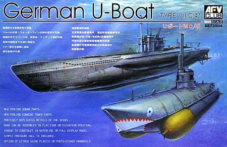 ドイツ海軍 潜水艦 Uボート タイプ 7C/41プラモデル(AFV CLUB1/350 潜水艦No.SE73504)商品画像