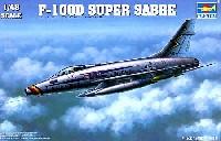 トランペッター1/48 エアクラフト プラモデルF-100D スーパーセイバー