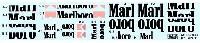 タブデザイン1/20 デカールマクラーレン MP4/11B 対応 オプションデカール