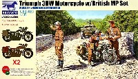 イギリス トライアンフ 3HW型 オートバイ w/イギリス MP