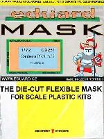 エデュアルド1/72 エアクラフト用 エデュアルド マスク (CX-×)E.E.キャンベラ PR.9用 マスキングシート (エアフィックス対応)