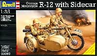 レベル1/35 ミリタリードイツ オートバイ R-12 w/サイドカー