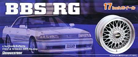 BBS RG (17インチ)プラモデル(アオシマ1/24 Sパーツ タイヤ&ホイールNo.109)商品画像