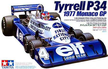 タイレル P34 1977 モナコGPプラモデル(タミヤ1/20 グランプリコレクションシリーズNo.053)商品画像