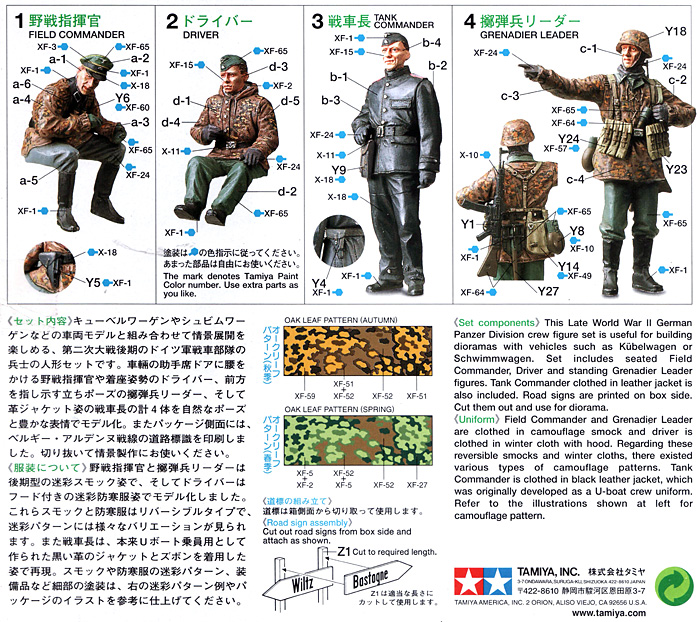 ドイツ戦車部隊 前線偵察チームプラモデル(タミヤ1/35 ミリタリーミニチュアシリーズNo.253)商品画像_1