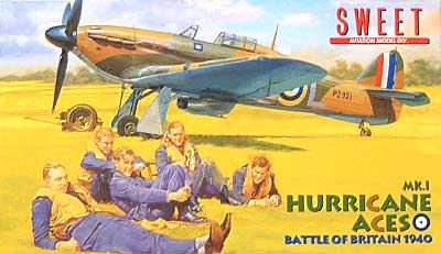 ホーカー ハリケーン Mk.1 エースプラモデル(SWEET1/144スケールキットNo.004)商品画像