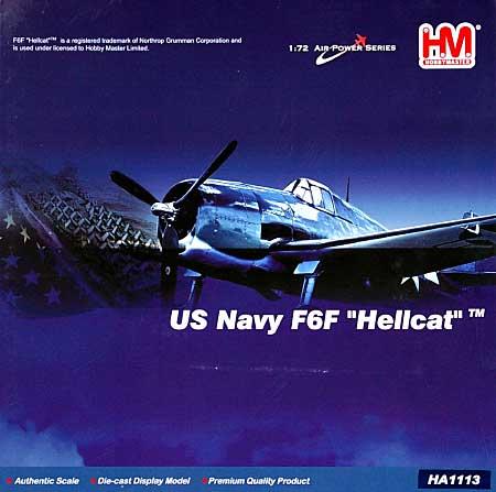 F6F-5 ヘルキャット USS ツラギ完成品(ホビーマスター1/72 エアパワー シリーズ (レシプロ)No.HA1113)商品画像