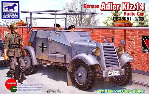 ドイツ アドラー Kfz.14 軽4輪装甲自動車 無線機搭載型プラモデル(ブロンコモデル1/35 AFVモデルNo.CB35051)商品画像