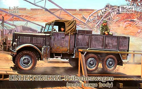 ドイツ アインハイツ ディーゼル 6輪カーゴトラック 金属パネル型プラモデル(IBG1/35 AFVモデルNo.35003)商品画像
