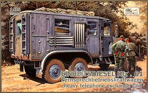 ドイツ アインハイツ ディーゼル Kfz.61 電話交換車 (Fernsprechbetriebskraftwagen)プラモデル(IBG1/35 AFVモデルNo.35004)商品画像
