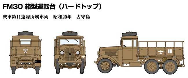 帝国陸軍 94式6輪自動貨車 箱型運転台 (ハードトップ)プラモデル(ファインモールド1/35 ミリタリーNo.FM030)商品画像_2