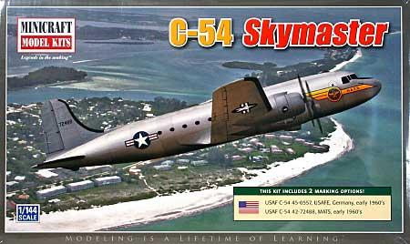 C-54 スカイマスタープラモデル(ミニクラフト1/144 軍用機プラスチックモデルキットNo.14614)商品画像