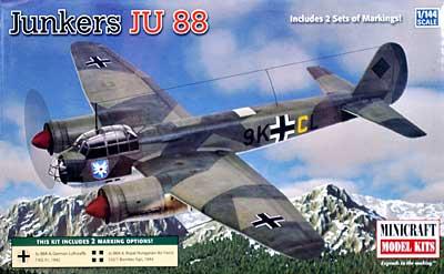 ユンカース Ju88Aプラモデル(ミニクラフト1/144 軍用機プラスチックモデルキットNo.14618)商品画像