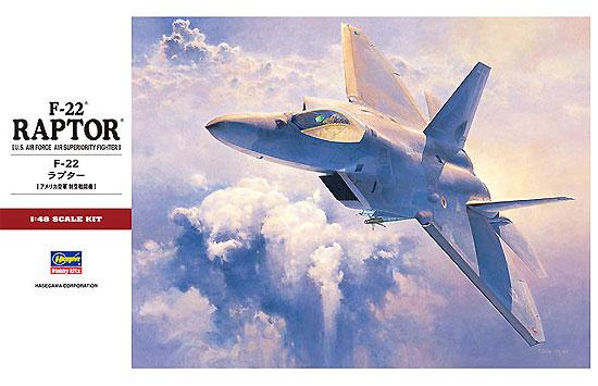 F-22 ラプタープラモデル(ハセガワ1/48 飛行機 PTシリーズNo.PT045)商品画像