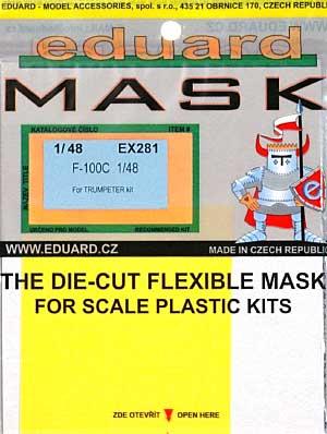 F-100C スーパーセイバー用 マスキングシート (トランペッター対応)マスキングシート(エデュアルド1/48 エアクラフト用 エデュアルド マスク (EX-×)No.EX-281)商品画像
