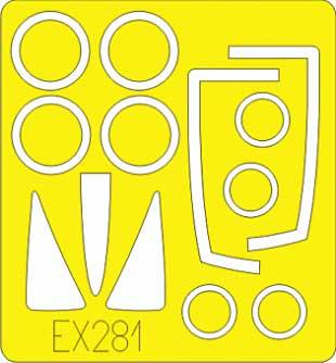 F-100C スーパーセイバー用 マスキングシート (トランペッター対応)マスキングシート(エデュアルド1/48 エアクラフト用 エデュアルド マスク (EX-×)No.EX-281)商品画像_1