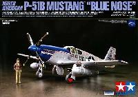 タミヤ1/48 飛行機 スケール限定品ノースアメリカン P-51B マスタング ブルーノーズ