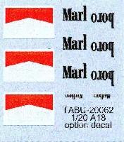 タブデザイン1/20 デカールアロウズ A18 オプションデカール