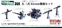 ファインモールド1/350 ナノ・ドレッド シリーズ九三式 13.2mm機銃 セット