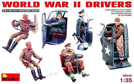 WW2 ドライバー フィギュアセットプラモデル(ミニアート1/35 WW2 ミリタリーミニチュアNo.35042)商品画像