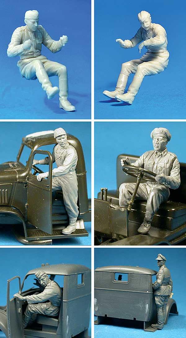 WW2 ドライバー フィギュアセットプラモデル(ミニアート1/35 WW2 ミリタリーミニチュアNo.35042)商品画像_3