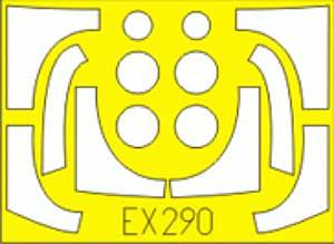 F-16I スーファ用 マスキングシート (ハセガワ対応)マスキングシート(エデュアルド1/48 エアクラフト用 エデュアルド マスク (EX-×)No.EX-290)商品画像_1
