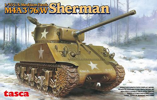 M4A3(76)W シャーマンプラモデル(アスカモデル1/35 プラスチックモデルキットNo.旧35-019)商品画像