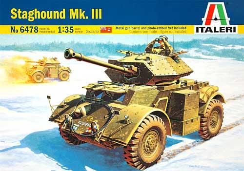 スタッグハウンド Mk.3 装甲車 (メタル砲身・エッチングパーツ付き)プラモデル(イタレリ1/35 ミリタリーシリーズNo.6478)商品画像