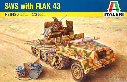 ドイツ重国防軍牽引車 Flak43搭載型プラモデル(イタレリ1/35 ミリタリーシリーズNo.6480)商品画像