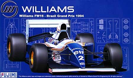 ウィリアムズ FW16 1994年 ブラジルGP仕様プラモデル(フジミ1/20 GPシリーズNo.GP018)商品画像