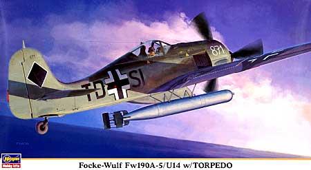 フォッケウルフ Fw190A-5/U14 w/トーピードプラモデル(ハセガワ1/48 飛行機 限定生産No.09911)商品画像