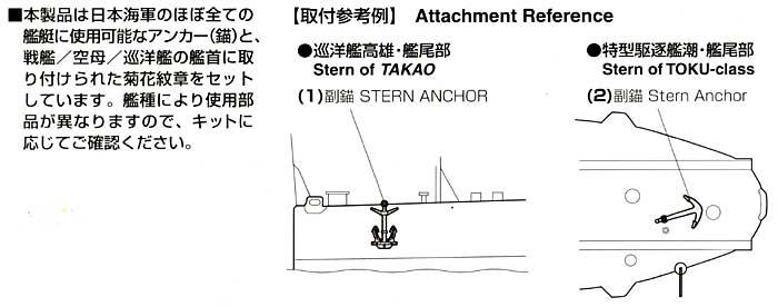 アンカー・菊花紋章セットプラモデル(ファインモールド1/700 ナノ・ドレッド シリーズNo.WA012)商品画像_1