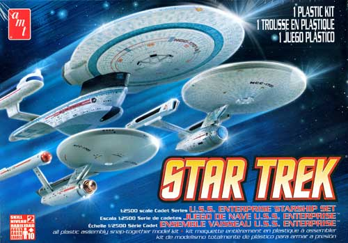 エンタープライズ 3隻セット NCC-1701/NCC-1701A/NCC-1701Bプラモデル(amtスタートレック(STAR TREK)シリーズNo.AMT660L/12)商品画像