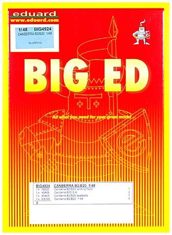キャンベラ B.2/B.20用 エッチングパーツセット (エアフィックス対応)エッチング(エデュアルド1/48 BIG ED (AIR)No.BIG-4924)商品画像