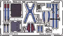 MiG-21MF KM1M シートベルト エッチングパーツ (トランペッター対応)エッチング(エデュアルド1/32 エアクラフト用 カラーエッチング シートベルト (32-×)No.32-651)商品画像_1