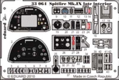 スピットファイア Mk.9 後期型 インテリア エッチングパーツ (接着剤付) (タミヤ対応)エッチング(エデュアルド1/32 エアクラフト用 カラーエッチング ズーム (33-×)No.33-064)商品画像_1