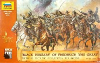 ズベズダ1/72 ヒストリカルフィギュアフレデリック2世の黒い軽騎兵 BLACK HUSSARS