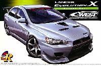 アオシマ1/24 Sパッケージ・バージョンRC-WEST ランサーエボリューション X (ストリートVer.)